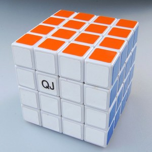 QJ 4x4 Puzzle Speed Cube Sticker White