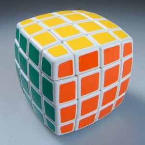QJ Pillow-shaped 4x4 Magic Cube White