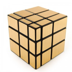 Shengshou Golden Mirror 3X3 Speed Cube Puzzle Black