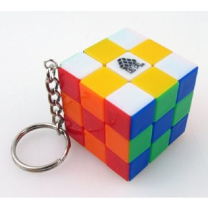 Type C, Mini 3X3X3 Cube Puzzle, Keychain Mini 3cm Key Ring Stickerless