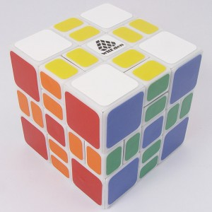 WitEden 3x3x3 Mixup Plus Magic Cube Puzzle, White