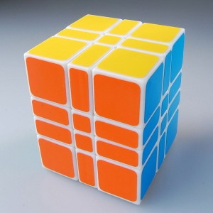 WitEden 3x3x4 334 Camouflage Speed Cube Magic Cube White