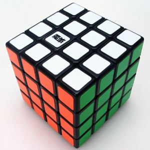 YJ Moyu Weisu 4x4x4 62mm Speed Cube Puzzle, Black