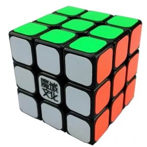 YJ Moyu Mini Aolong 3x3x3 Speed Cube Puzzle, 54.5mm Black