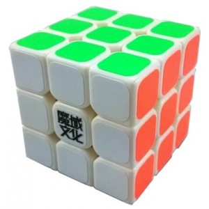 YJ Moyu Mini Aolong 3x3x3 Speed Cube Puzzle, 54.5mm White