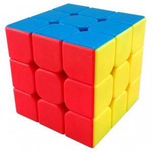 YJ Moyu Mini Aolong 3x3x3 Speed Cube Puzzle, 54.5mm Stickerless Red