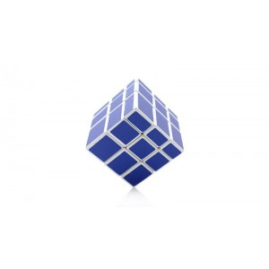 XM 3x3x3 Mirror Blocks Magic Cube  Blue White
