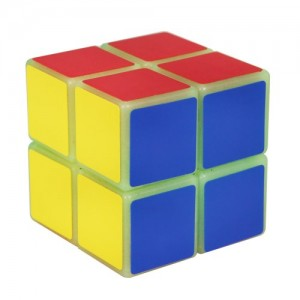 YongJun (YJ) Luminous 2x2x2 50mm Magic Speed Cube Green