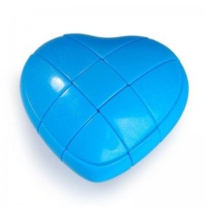 YJ 3x3 Heart Cube Blue