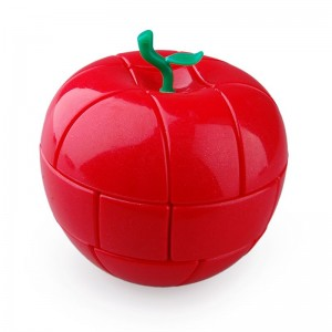 YJ Apple Shape Magic Cube Puzzle Game Toy (Red)