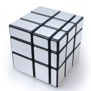 YJ Silver Mirror 3X3 Speed Cube Black