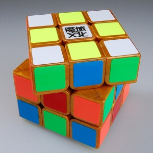 YJ Moyu Huanying 3x3x3 Speed Cube Golden