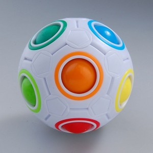 YJ Magic Rainbow Ball Magic Cube Puzzle Cube