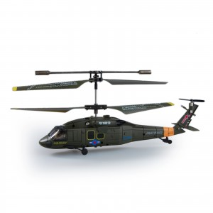 "Syma S102G Army Force 7.5"" RC Remote Control Helicopter, 3.5 Channels Infrared Control Indoor Mini Co-Axial UH-60 Black Hawk Stealth Helicopter with Built-in Gyro, Multiplayer Up To 2 Helicopters"