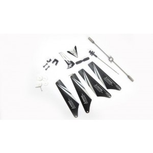 NC? BRAND - Full Set Replacement Parts for Syma S107C RC Helicopter with Camera, Main Blades, Main Shaft,Tail Decorations, Tail Props, Balance Bar, Gear Set,Connect Buckle -White Set-