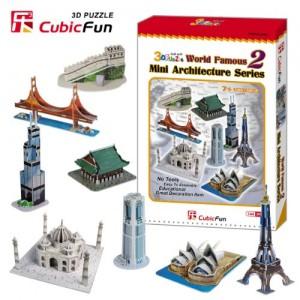 Cubic Fun Mini Architecture Series 2, 144 Pieces