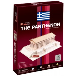 3d the Parthenon Jigsaw Puzzle Cubic Fun 25 Pcs