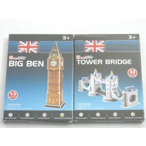 Cubicfun Cubic Fun 3d Puzzle Model Uk London Big Ben Tower Bridge Set