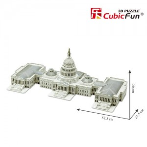 The Capitol Hill Washington USA 3D Puzzle. Beautiful Elegant Decoration for Home/Office
