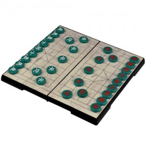 Jade Color Chinese Chess Xiangqi Magnetic Travel Set - 12-3/4''