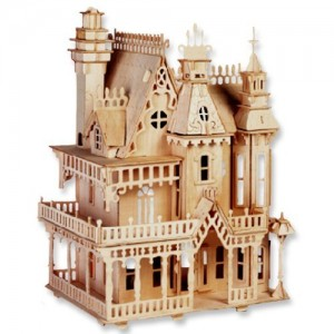 3-D Wooden Puzzle - Fantasy Villa -Affordable Gift for your Little One! Item #DCHI-WPZ-G-DH004