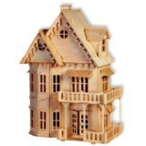 3-D Wooden Puzzle - Gothic House -Affordable Gift for your Little One! Item #DCHI-WPZ-DH-001