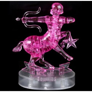 Cartoon Puzzle Toy Pink Sagittarius Model