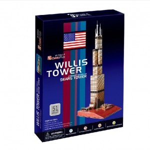 CubicFun Sears Tower Chicago USA 3D Puzzle