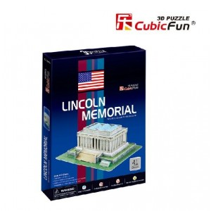 Diy 3d Puzzle Paper Model Lincoln Memorial 41pcs Home/office Decoration