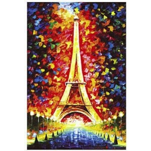 Cartoon Puzzle Toy Eiffel Tower Model