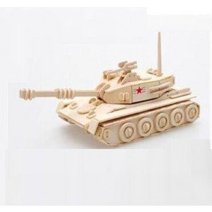 3-d Wooden Puzzle- Children and Adult's Educational Building Blocks Puzzle Toy Main Battle Tanks Model