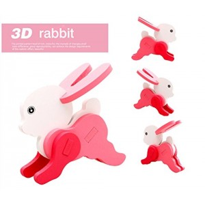 ThinkMax 3-D Wooden Puzzle Affordable Gift for your Little One!(Rabbit)