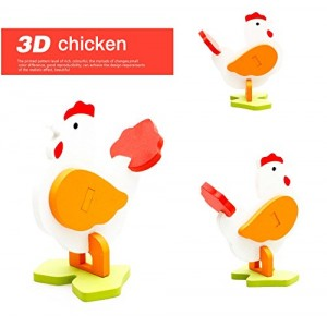 3-D Wooden Puzzle Affordable Gift for your Little One!(Cock)