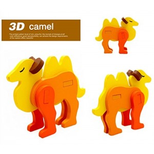 3-D Wooden Puzzle Affordable Gift for your Little One!(Camel)