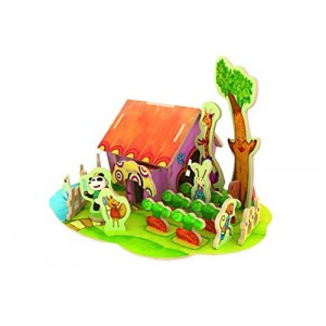 Kids' Model 3D Cabin Puzzle Funny Early Educational Toys