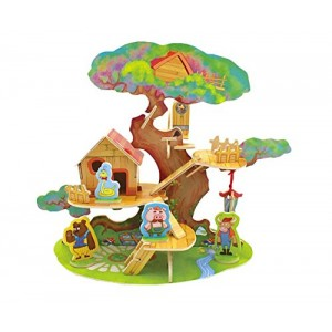 Kids' Elf tree house Model 3D Cabin Puzzle Funny Early Educational Toys