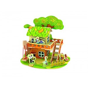 3D Wooden Puzzle-a Series of Houses in Forest - Tree house -educational Games for Kids / 3d Puzzles for Adults