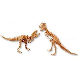 3-D Wooden Puzzle - Tyrannosaurus -Affordable Gift for your Little One! Item #DCHI-WPZ-J020