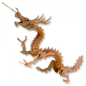 3-D Wooden Puzzle - Dragon -Affordable Gift for your Little One! Item #DCHI-WPZ-M005