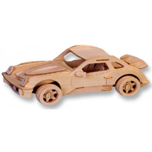 3-D Wooden Puzzle - Small Car Model P-911 -Affordable Gift for your Little One! Item #DCHI-WPZ-P066A