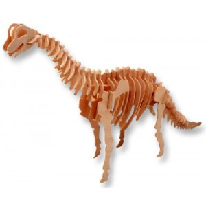 3-D Wooden Puzzle - Small Brachiosaurus -Affordable Gift for your Little One! Item #DCHI-WPZ-J013A