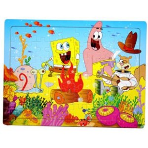 Cartoon Puzzle Toy SpongeBob SquarePants Model