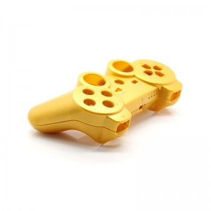 Full Housing Shell Case with Buttons for PS3 Wireless Controller (Golden)