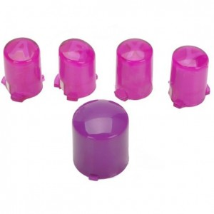 A B X Y Button + Power Button for Xbox 360 Wireless Controller - Purple