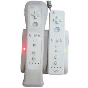 Dual Induction Charge Base with 2 Batteries for Wii