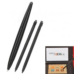 3-in-1 Touch Pen Set for Nintendo 3DSLL/3DSXL - Black