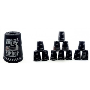 Qiyun Yongjun  Graffiti Speed Flying Cup Stacking Rapid Cups sets 12 Pieces Black