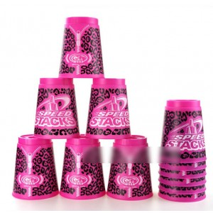 Qiyun SSpeedStacks  Cup Sets Leopard Series Pink