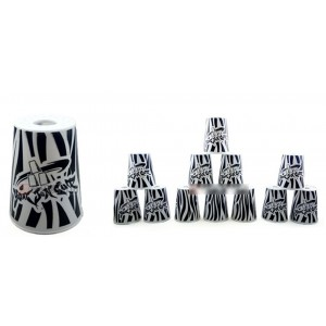 Qiyun Yongjun  Graffiti Speed Flying Cup Stacking Rapid Cups sets 12 Pieces White