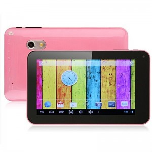 IPPO M7 7-inch Android 4.2.2 Dual Core A20 1.2GHz Tablet PC with Auto Screenshot, HDMI & Capacitive Touch (4 GB) (Pink)